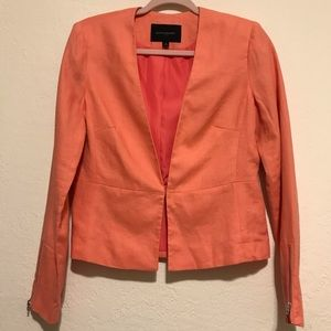 Banana Republic Collarless Blazer Size 4